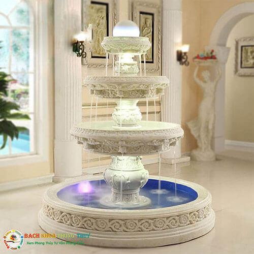 Bố trí Đài phun nước phong thủy trong nhà