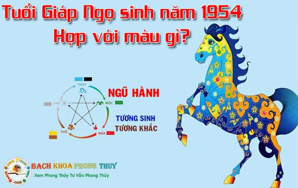 Tuổi Giáp Ngọ sinh năm 1954 hợp với những màu nào?