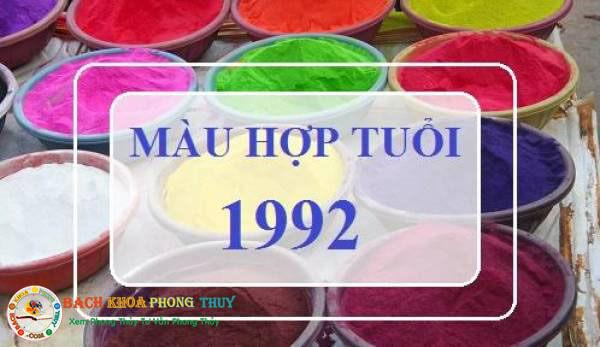 Màu hợp với người Tuổi Nhâm Thân sinh năm 1992