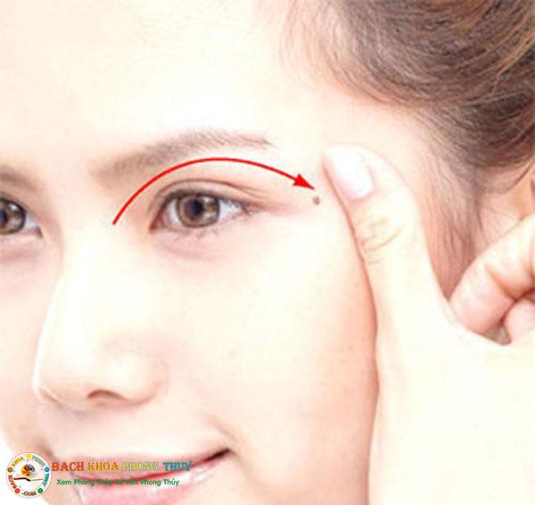 Nốt ruồi ở đuôi mắt là những người đào hoa