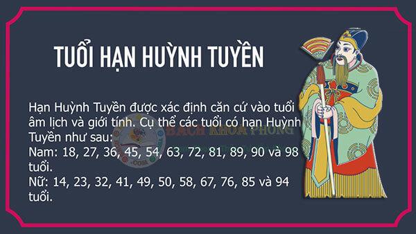Nam nữ tuổi nào gặp hạn Huỳnh Tuyền năm 2021?