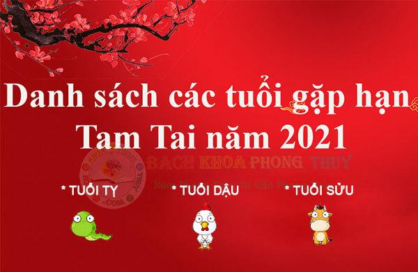 Điểm danh các tuổi gặp hạn Tam Tai 2021